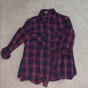 Flannel with open back from Charlotte Russe medium